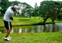 An Ilonggo player is seen playing golf at the Iloilo Golf and Country Club in Sta. Barbara. PHOTO BY RAY TABAFUNDA