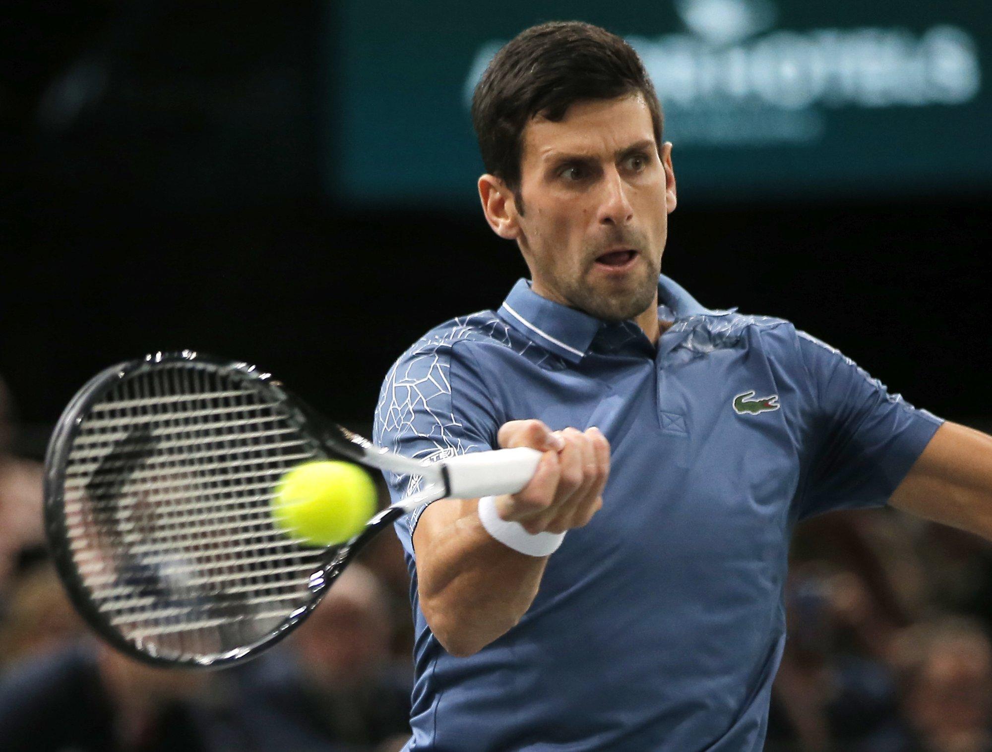 Djokovic Faces Federer In Paris Masters Semifinals