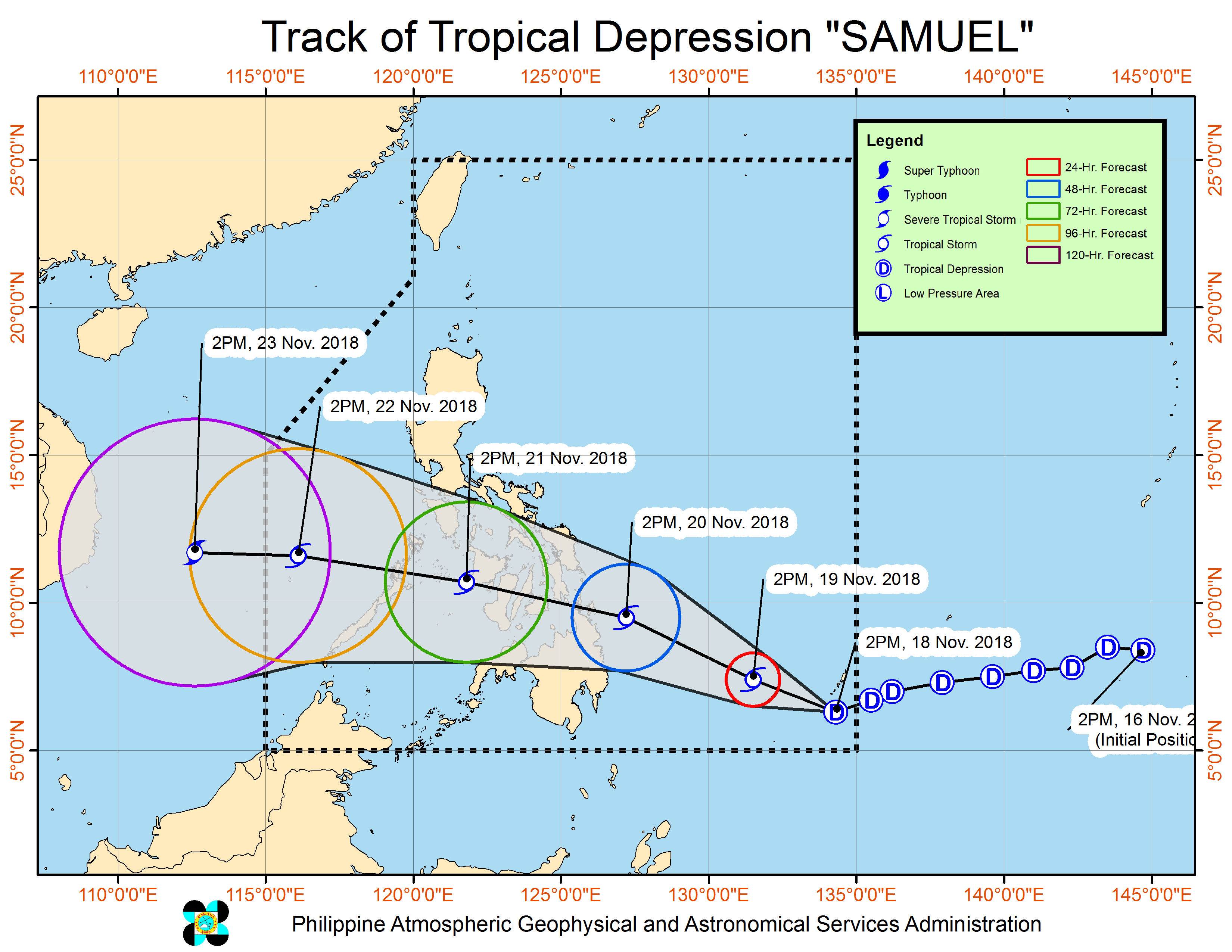 EYE OF THE STORM: Western Visayas in tropical depression's path