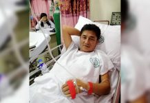 Councilor Ely Estante was hospitalized on Monday night. He had dengue.