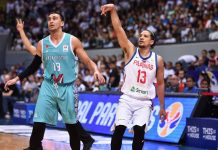 Marcio Lassiter (right) is expected to be out of basketball action for six weeks due to a grade 2 medial collateral ligament strain on his left knee. FIBA PHOTO