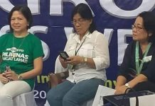 BUSINESS TALK. (From left) Mary Ann Colmenares, chairperson of the Negros Occidental Provincial MSME Development Council; Lucille Gelvolea, head of the Provincial Economic Enterprise Development Department; and Lea Gonzales, provincial director of the Department of Trade and Industry-Negros Occidental, in one of the events of the just-concluded 11th Negros Business Week held at Robinsons Place Bacolod. The signing of the Philippine Innovation Act has made MSMEs in Negros Occidental optimistic about the growth and development of local entrepreneurs. (Photo by Erwin P. Nicavera)