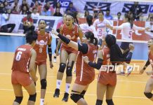 Petro Gazz Angels rejoices after bagging its maiden championship in the Premier V-League. SPIN.PH
