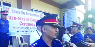 Lieutenant Colonel Ricardo Jomuad Jr. is the new Roxas City police station chief. Jomuad is succeeding Lieutenant Colonel Dante Tayco who is set to undergo schooling. GLENN BEUP/PN