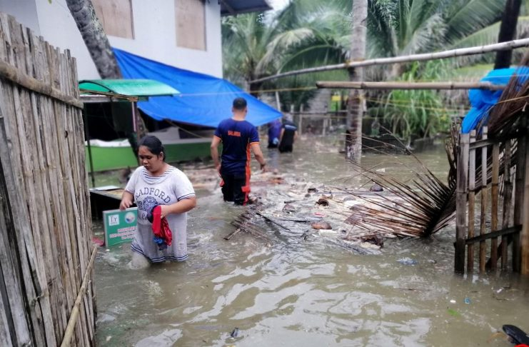 "In Barangay Tiolas, San Joaquin, Iloilo some houses got flooded due to southwest monsoon rains enhanced by tropical depression ""Falcon"". PHOTO COURTESY OF SAN JOAQUIN BFP"