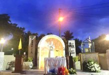 The grotto of Saint Padre Pio at the Our Lady of Peace and Good Voyage Parish