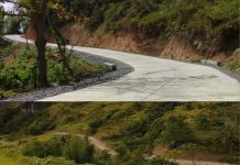 Concreted farm-to-market road in Brgy. Cubay in Alimodian, Iloilo (top) and opening of new FMR from Brgy. Bobon in Leon, Iloilo to Brgy. Manasa in Alimodian, Iloilo (bottom), providing better access to the highland communities in central Iloilo. Photo courtesy of DPWH, Iloilo 4th District Engineering Office.