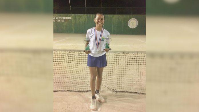 Althea Rose Martirez harvests three championships in the PHILTA Age Group tournament in Iloilo City. PHOTO COURTESY OF ADVEN SANTIAGO