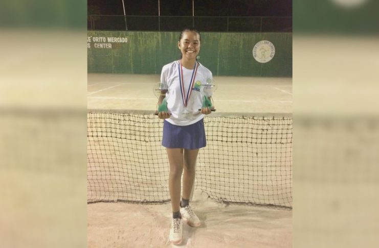 Althea Rose Martirez harvests three championships in the PHILTA Age Group tournament in Iloilo City. PHOTO COURTESY OF ADVEN SANTIAGO