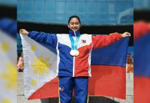 Flora Navales has three medals — gold in mixed pair, silver in individual poomsae and bronze in kyorugi – in the recent 2019 Shinhan World Peace Taekwondo Festival in South Korea.