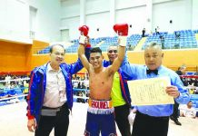 Jay-R Raquinel has improved his record of 11-1-1 win-loss-draw, including eight stoppage wins. BRICO SANTIG PHOTO
