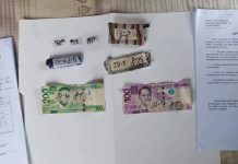 Three sachets of suspected shabu recovered from Junil Dorego. IAN PAUL CORDERO/PN