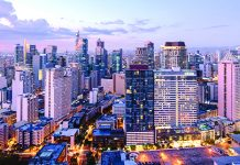 An aerial view of Makati City, the financial center of the Philippines. Foreign investments are up a whopping 348 percent between January to July, while local investments increased slightly by 2.7 percent. ORANGETRANSLATIONS.COM