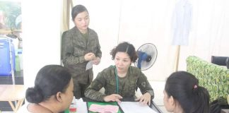 Philippine Army's 3rd Infantry Division deploys a total of seven medical personnel in Iloilo City Hydration Unit in La Paz district to augment the city's effort in fighting the mosquito-borne disease. 3RD INFANTRY DIVISION OF THE PHILIPPINE ARMY