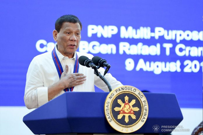 President Rodrigo Duterte says he will not punish police officers accepting gifts from the public if the move was done out of gratitude and generosity. PCOO