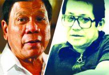"""President Rodrigo Duterte and late former Senator Benigno """"Ninoy"""" Aquino Jr. ABS-CBN News"""