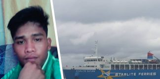 The 22-year-old Rommel Layson (left) is believed to have committed suicide after jumping off Starlite Ferry into the Sibuyan Sea around 10:40 a.m. on Thursday. GLENN BEUP