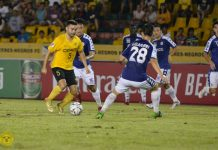 Ceres-Negros FC's Stephan Schrock is way ahead of the Mendiola FC 1991 defense. CERES MEDIA FILE PHOTO