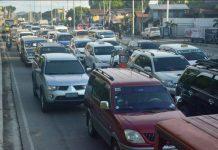 "Vehicles are constantly ""bumper to bumper"" and slow on Sen. Benigno Aquino Jr. Avenue in Barangay Ungka II, Pavia, Iloilo due to congestion. IAN PAUL CORDERO/PN"