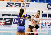Jessica Galanza of Creamline Cool Smashers makes an attack. SPIN.PH PHOTO