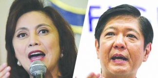 """Former senator Ferdinand """"Bongbong"""" Marcos hits the camp of Vice President Leni Robredo for claiming early victory in the electoral protest he filed after the 2016 vice presidential race. ABS-CBN NEWS"""