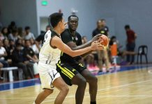 Papa Ndiaye tallied 22 points and nine rebounds in the Technological Institute of the Philippines Engineers' winning turn against Black Mamba Energy Drink of the 2019 PBA D-League Foundation Cup. PBA PHOTO
