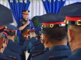 """""""This is my little contribution to end the problem of illegal drugs,"""" says Colonel Roland Vilela, director of the Iloilo Police Provincial Office. IAN PAUL CORDERO/PN"""
