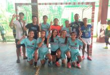 Pontevedra girls futsal team