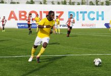 Robert Lopez Mendy finished with hat trick during Ceres-Negros FC's match against the Philippine Air Force in Batangas. PFL FILE PHOTO