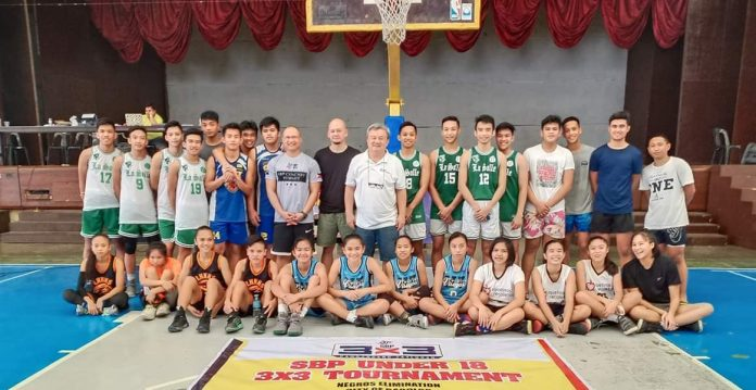 The qualified teams from Negros Occidental/Bacolod for the SBP 3x3 Basketball. PHOTO BY UNO-RECOLETOS GIRLS BASKETBALL PLUS