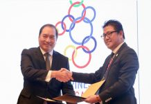 SM-30TH SEA GAMES PARTNERSHIP. SM Lifestyle, Inc., the lifestyle and entertainment arm of SM Prime Holdings, is now an official venue partner of the 30th SEA Games this Nov. 30 to Dec. 11, 2019. The Mall of Asia Arena is the final venue for the 5-on-5 basketball games while for ice sports, the SM Skating Rink will be the official venue for the ice hockey competition. The SM Megamall Rink will hold competitions for figure skating, and short track. SM Tickets will likewise be providing its full-service online ticketing system and its dedicated customer care hotline for the games. In photo, SM Lifestyle COO, Herman Medina-Cue shakes hands during the signing ceremony with Ramon Suzara, COO of PHISGOC, to signify SM Lifestyle's support for the upcoming 30th SEA Games