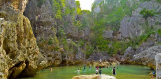 TANGKE. The famous saltwater lagoon in the island barangay of Gabi, Carles. IAN PAUL CORDERO