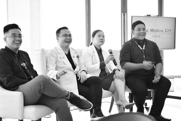 TMC Iloilo chief marketing officer Prince Celo, TMC Iloilo chief executive officer Dr. Felix Ray Villa, TMC Iloilo Ambulatory Care Center head Christian Jess Dadivas and TMC Iloilo chief medical officer Dr. Debbie Noblexada-Uy answer queries from the media and doctors about CheckApp.