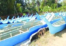 Some of the 100 fiberglass boats await their owners in San Jose, Antique. These boats are part of the allocation for the marginalized fishermen under the Bureau of Fisheries and Aquatic Resources' FB Pagbabago program. ANTIQUE PIO