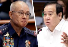 Senate Blue Ribbon Committee chair Sen. Richard Gordon (right) says former Philippine National Police chief General Oscar Albayalde and 13 other policemen should be charged for violating the provisions of the Anti-Graft and Corrupt Practices Act and for their alleged involvement in the reselling of confiscated illegal drugs.