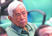"""Former Senate president Aquilino """"Nene"""" Pimentel Jr."""