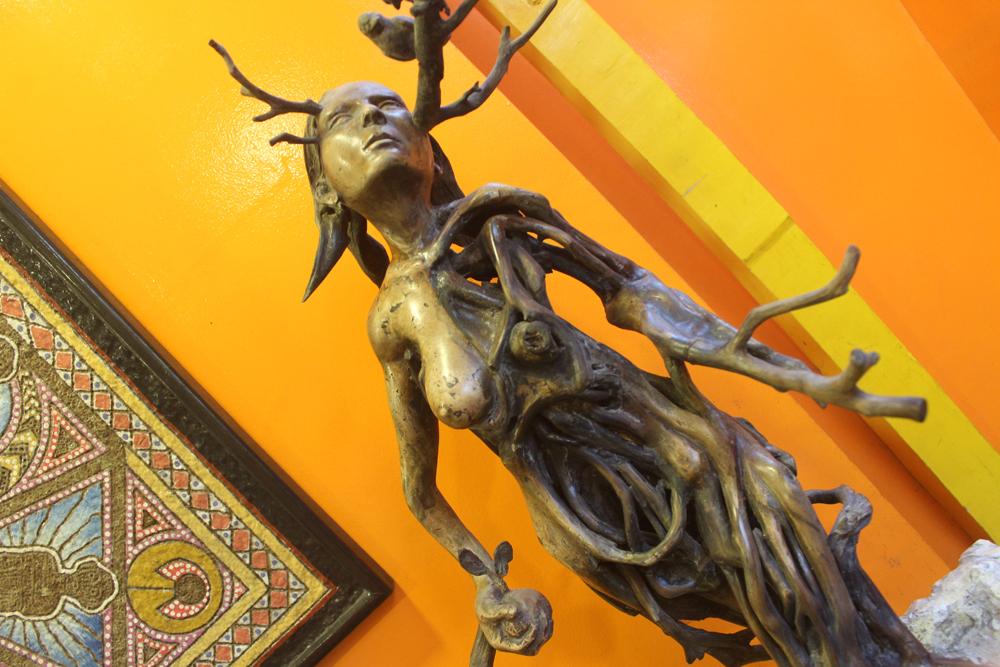 Tam-awan Village doubles as both an art space and a venue for Cordilleran folk performances.