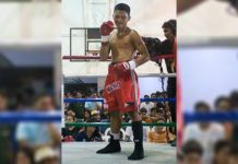 The 28-year-old Brian Macamay of Samar province has a 10W-9L-3D, 6KO record in boxing.