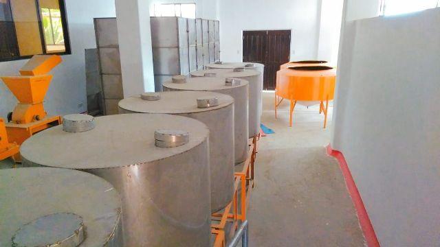 The settling tanks of the coconut oil facility in Barangay Ondoy, Ivisan, Capiz.