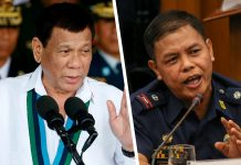 President Rodrigo Duterte and Police Major Jovie Espenido
