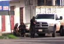 Armed men were seen in several areas of Culiacán, Mexico on Thursday. AFP/GETTY IMAGES