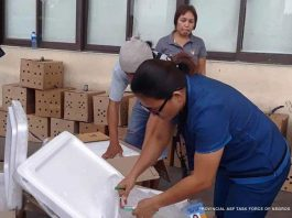 "An officer of the Provincial African Swine Fever Task Force-Negros Occidental inspects a box loaded with illegal pork products in Bacolod City. The task force seized a total of 8,640 packs of ""siopao"" or 51,840 pieces of pork buns that came from Mandaue City, Cebu on Wednesday. PROVINCIAL ASF TASK FORCE OF NEGROS OCCIDENTAL"