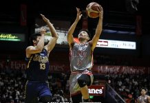 Lyceum of the Philippines Pirates' Jaycee Marcelino goes for a layup. ABS-CBN SPORTS PHOTO