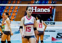 Jessica Galanza's triple-double 14 points, 14 excellent digs and 16 excellent receptions help Creamline Cool Smashers remain undefeated in the 2019 Premier Volleyball League Open Conference. SPORTS VISION PHOTO