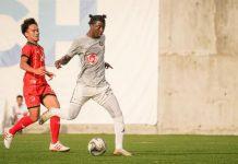 Kaya Futbol Club-Iloilo's Jordan Mintah controls the ball. KAYA ILOILO PHOTO