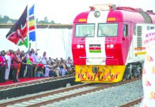 The boxy red-and-white diesel train left from a gleaming new terminal in the port city of Mombasa, carrying Kenyatta, Chinese dignitaries and citizens from around the country on its maiden journey to Nairobi, Kenya. THECITIZEN