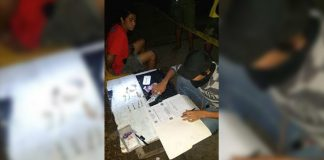 Former drug surrenderer Kim Cahilo (left) was arrested in an entrapment operation in Barangay Manoc-Manoc, Boracay Island, Malay, Aklan on Oct. 21. PDEA 6 PHOTO