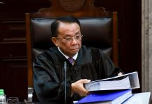 """Supreme Court chief justice Lucas Bersamin says he left the judiciary with """"no regrets"""" after reaching his mandatory retirement age on Friday. ABS-CBN NEWS"""