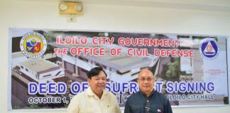 Mayor Jerry P. Treñas and OCD-6 Regional Director Jose Roberto R. Nuñez. ILOILO CITY GOVERNMENT