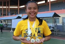 Pamela Marquillero ruled the women's 110-meter hurdles in the ongoing 24th University Games in Iloilo City.